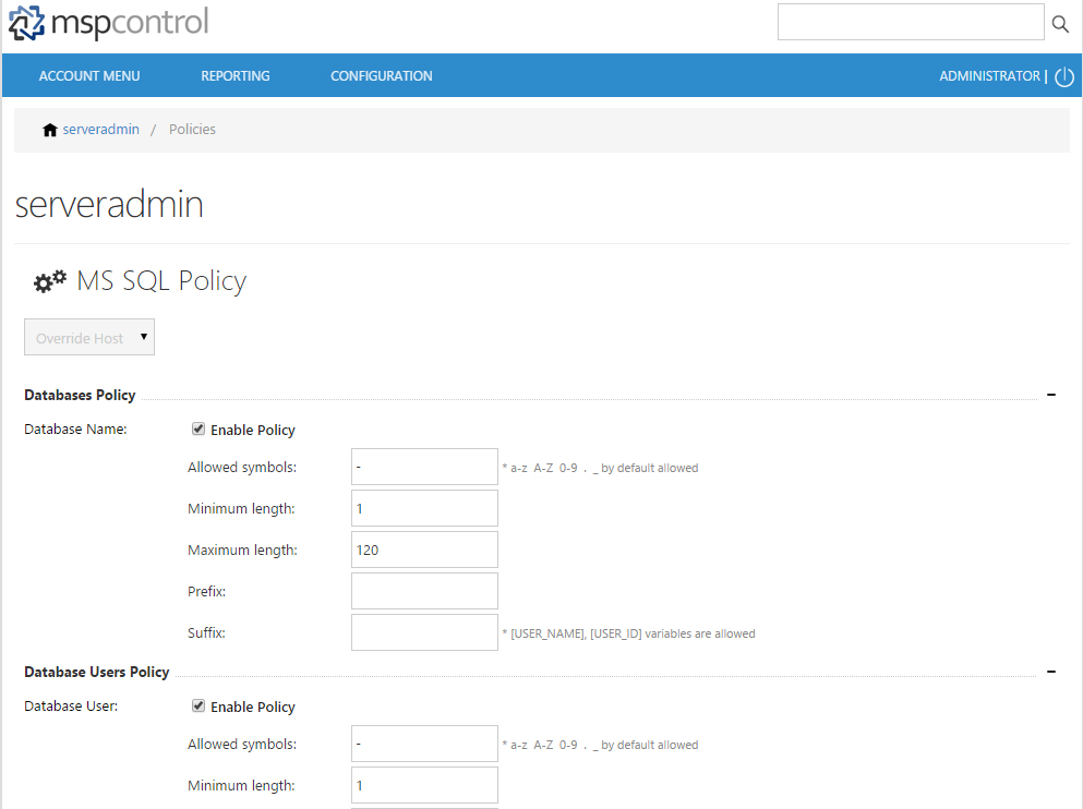 MS SQL Policy 1