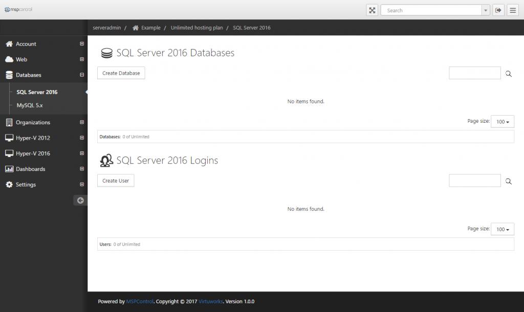 SQL Server 2016 Databases