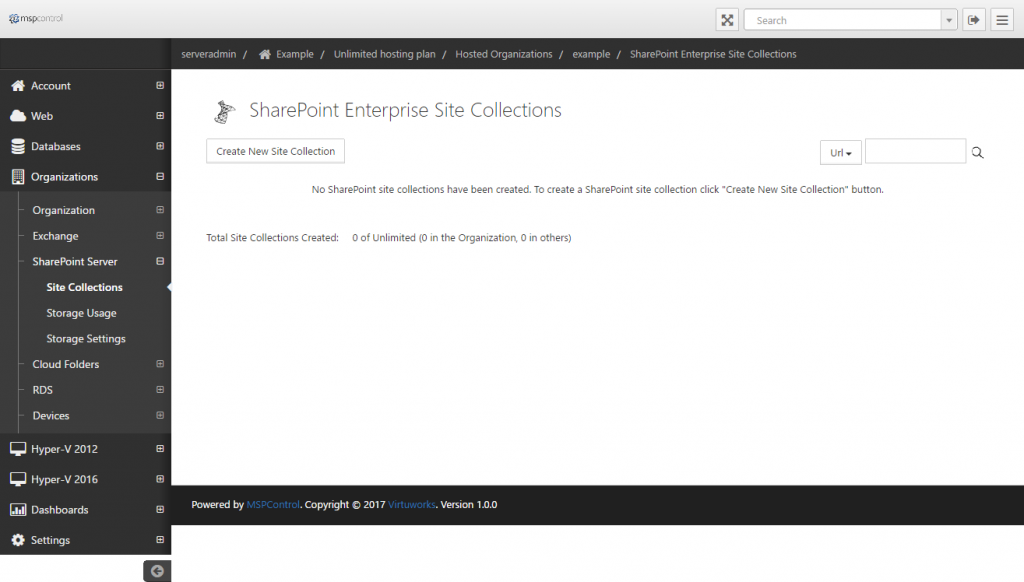 SharePoint Enterprise Site Collections